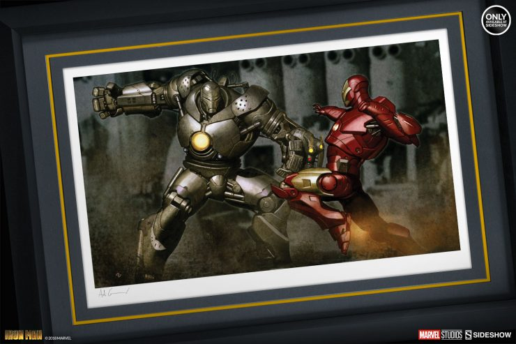 Upgrade Your Wall with the Iron Man vs Iron Monger Fine Art Print by Adi Granov