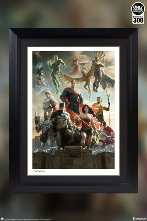 Heroes Unite in the Justice League Fine Art Print by Paolo Rivera