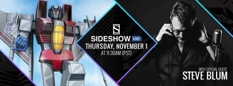 Join Us For a Special Sideshow Live Featuring Voice Actor Steve Blum- November 1st!