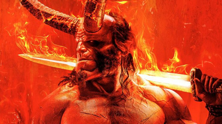 Hellboy Poster Featuring David Harbour