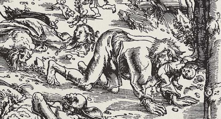 "Illustration of ""The Werewolf of Dole"""