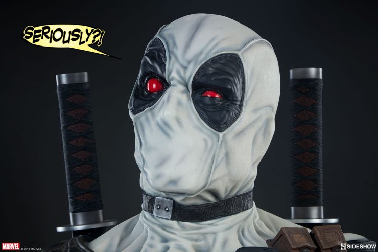 The Deadpool X-Force Variant Life-Size Bust Captures Wade Wilson's Mug in Glorious Detail
