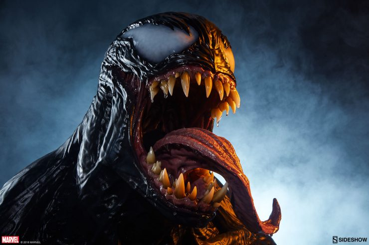 The Venom Life-Size Bust Brings the Sinister Symbiote to Your Shelf