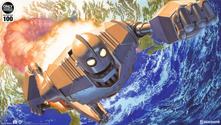 Bring Some Soul to Your Collection with the Iron Giant: No Atomo, I Superman! Fine Art Lithograph by Alex Ross