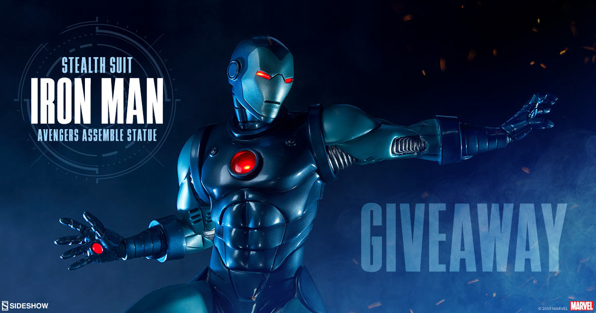 Sideshow Newsletter Iron Man Stealth Suit Version Statue Giveaway
