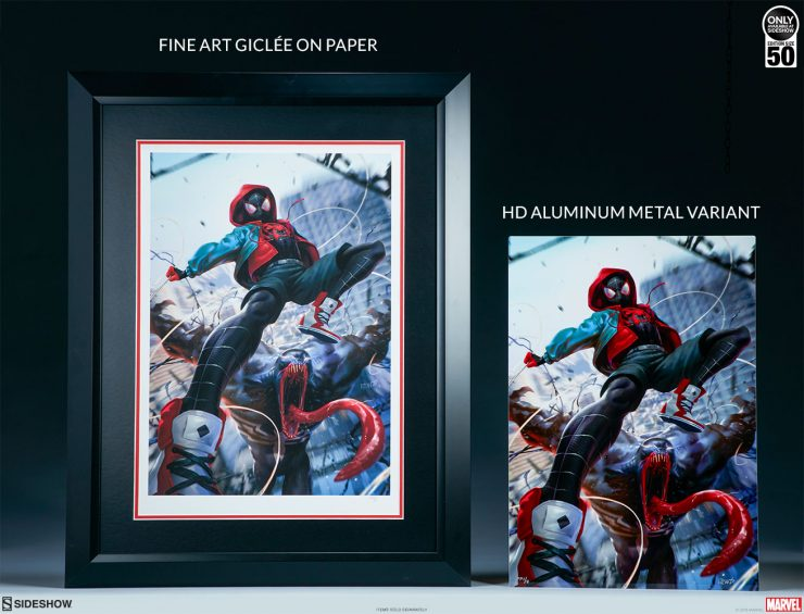 Ultimate Spider-Man! Miles Morales is Coming Your Way as a Fine Art Giclee Print and an HD Aluminum Metal Print