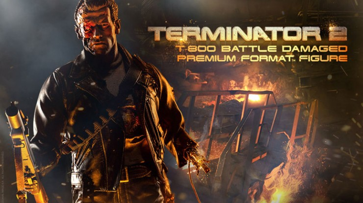 Come with us if you want to see our new Terminator T-800 with battle damage