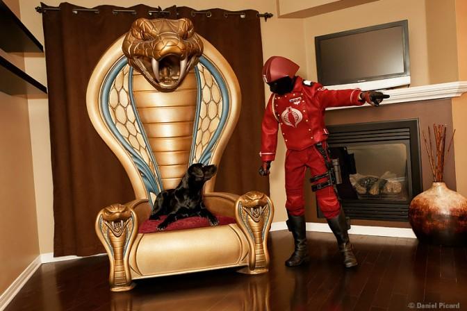 Crimson Cobra Officer and Dog