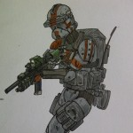 Clone Trooper art by Ash P.