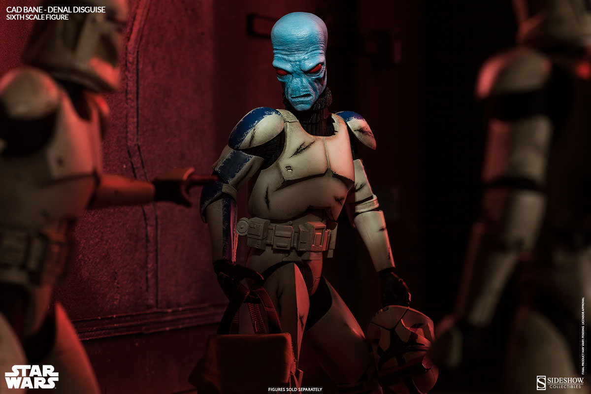 Star Wars Clone Wars Cad Bane in Denal Disguise Sixth Scale Figure