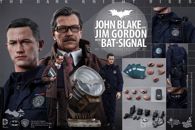 Hot Toys unveils new Dark Knight Rises figures – John Blake and Jim Gordon with Bat-Signal