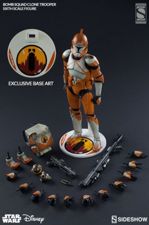 Sideshow Collectibles Star Wars Exclusive Bomb Squad Clone Trooper Ordnance Specialist Sixth Scale Figure