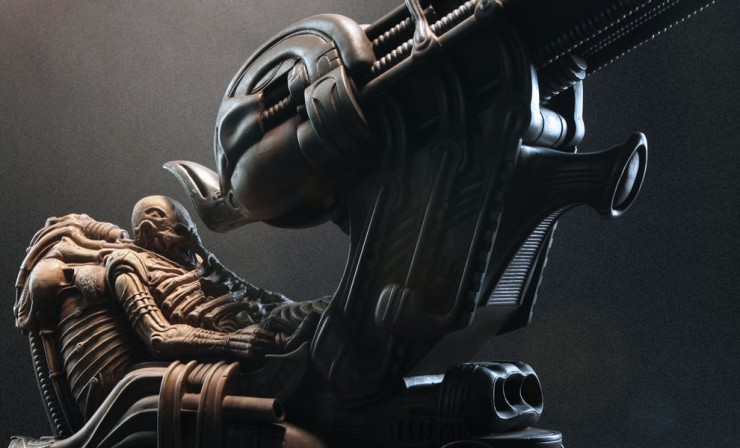 New transmission –Sideshow's H.R Giger Alien Space Jockey Maquette unveiled