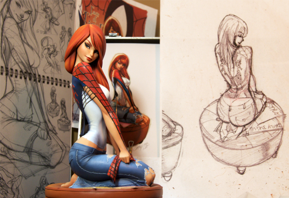 J. Scott Campbell Mary Jane Production Peek