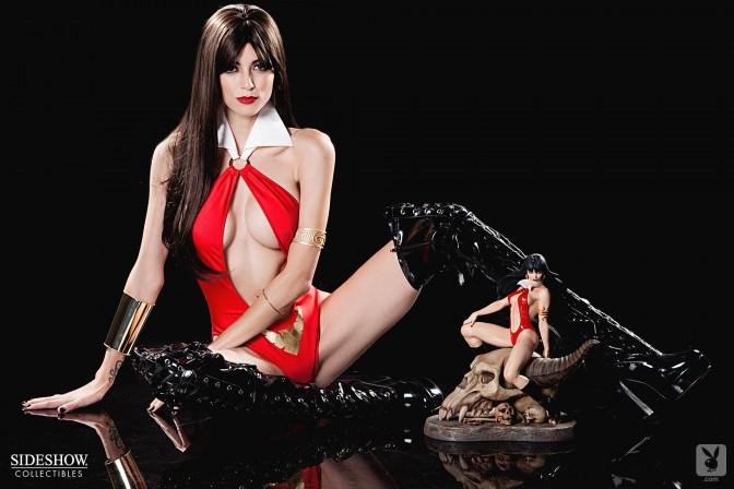 Playboy Vampirella Shoot Featuring Sideshow's Vampirella!