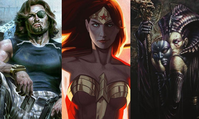 New Wonder Woman, Escape from New York, and Court of the Dead Premium Art Prints