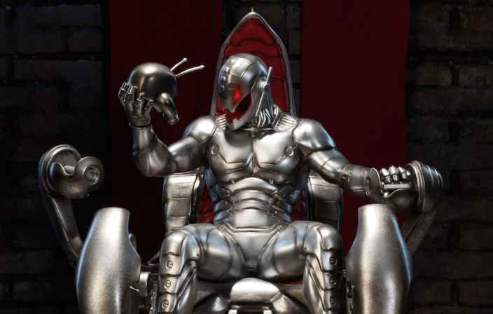 Kneel before Ultron! – Introducing Sideshow Classic Ultron on Throne Comiquette