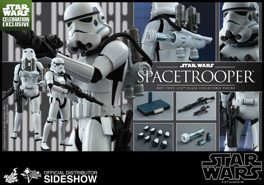 Hot Toys Star Wars Celebration Exclusive Spacetrooper Sixth Scale Figure