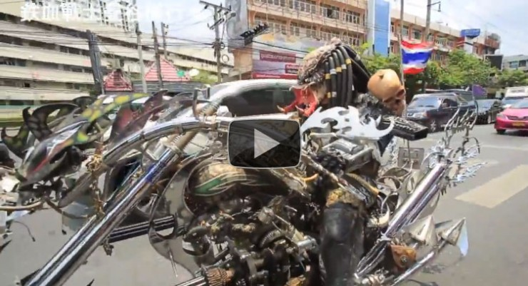 Predator and Alien bikers on the loose in Asia