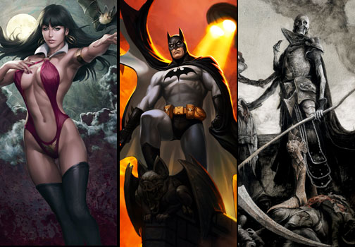 New Batman, Vampirella, and Court of the Dead Premium Art Prints