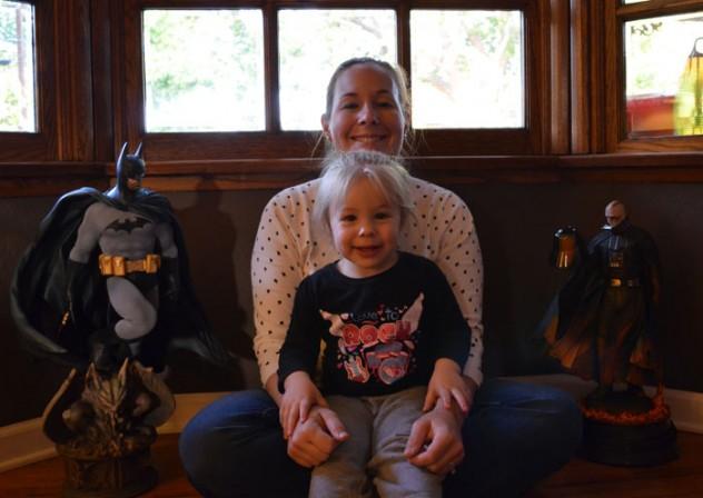 With Batman and Vader - Tara D.