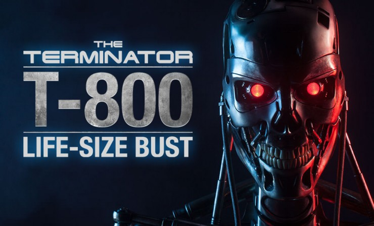He's back. Presenting the Terminator T-800 Life-Size Bust