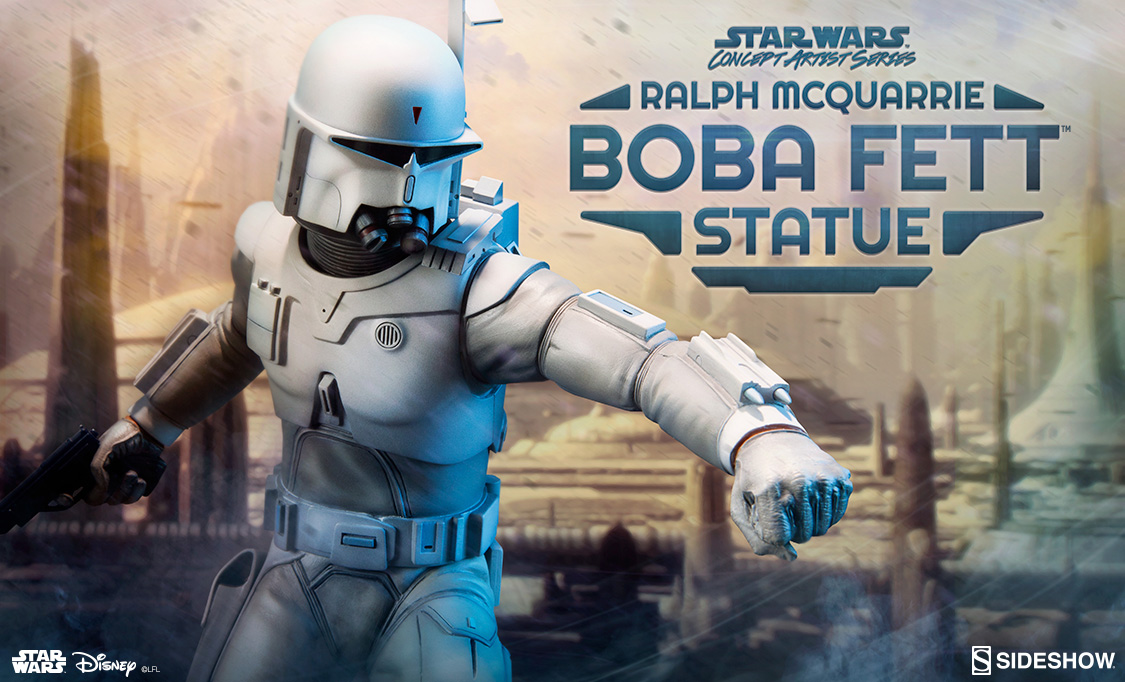 Ralph Mcquarrie Boba Fett Statue Sideshow Collectibles