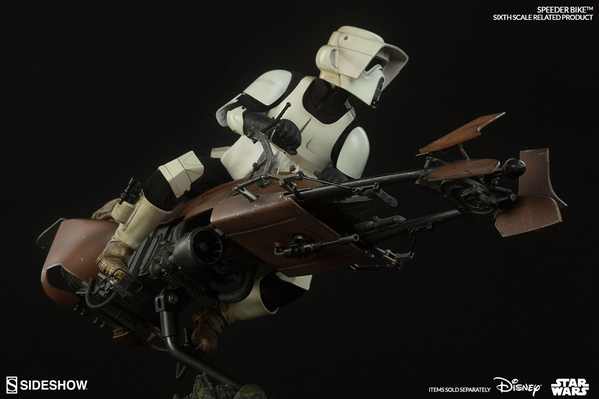 Star Wars Sixth Scale Speeder Bike and Scout Trooper Figures