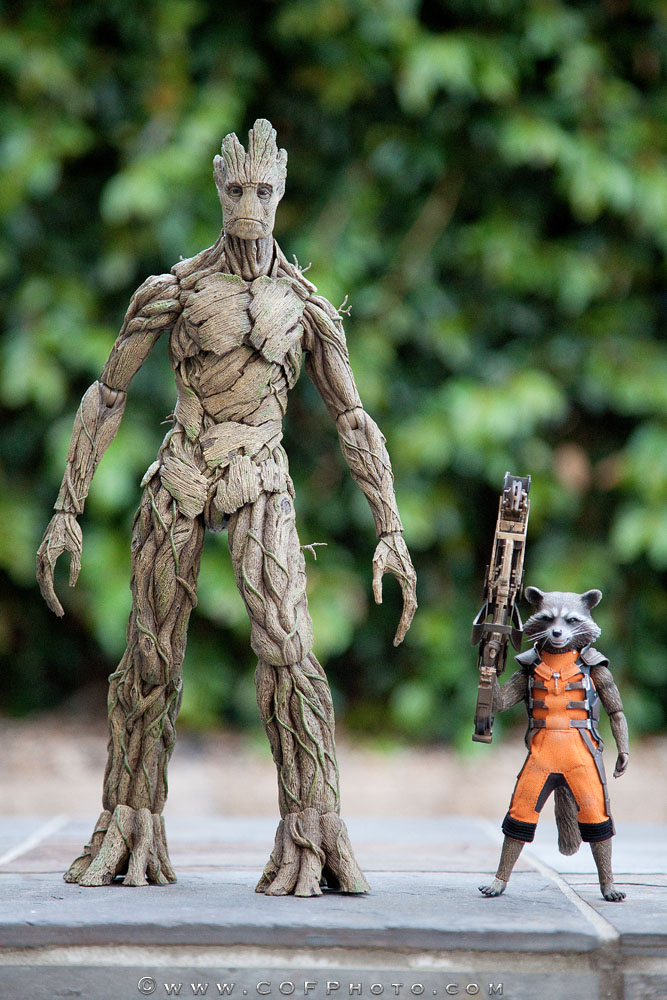 Hot Toys Rocket & Groot Sixth Scale Figures