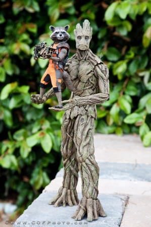 Hot Toys Rocket and Groot Sixth Scale Figures