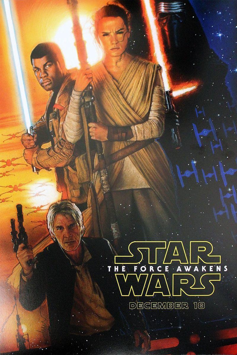 Drew Struzan Star Wars The Force Awakens poster
