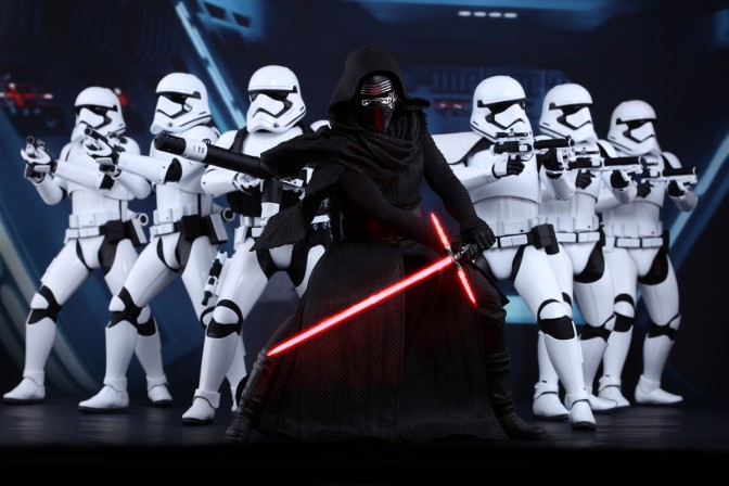 Hot Toys unveils their first figures from Star Wars The Force Awakens – Kylo Ren and First Order Stormtroopers
