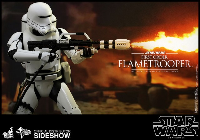 The Force Awakens First Order Flametrooper figure is the hottest new reveal from Hot Toys