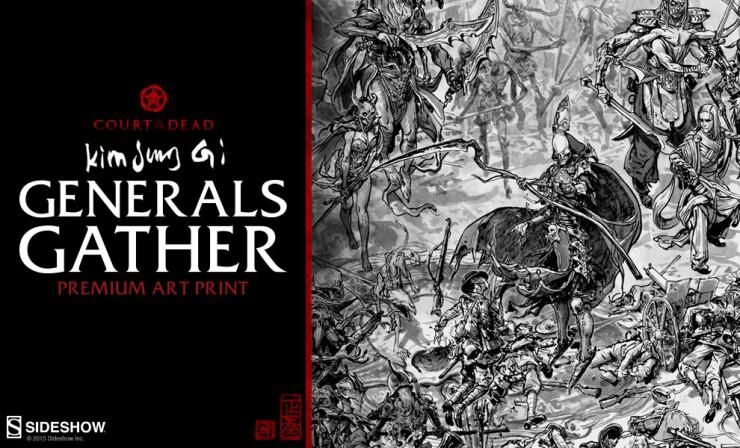 Generals Gather Kim Jung Gi Premium Art Print