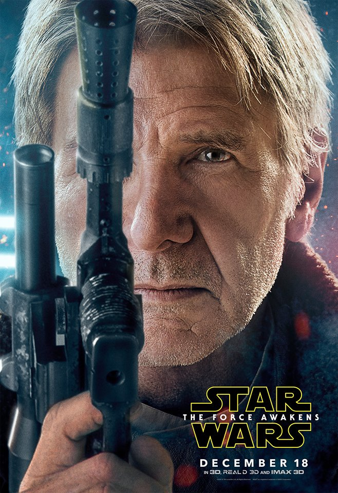 Harrison Ford Han Solo Poster Star Wars: The Force Awakens