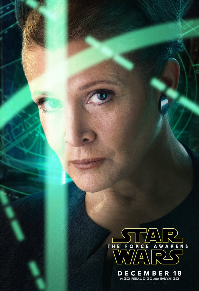 Carrie Fisher Princess Leia Poster Star Wars: The Force Awakens