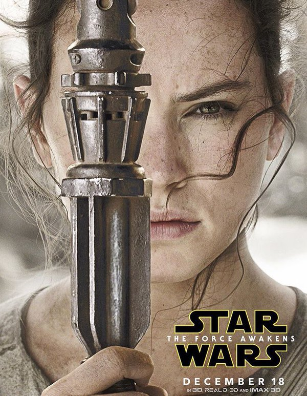 Rey Poster Star Wars: The Force Awakens