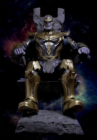 The Mad Titan is here! Feast your eyes on new photos of the Hot Toys Thanos 1/6 scale collectible figure
