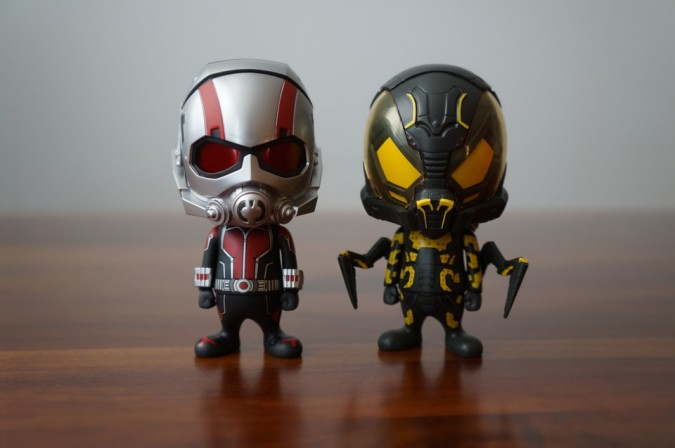 Comic Vine opens up the Hot Toys Ant-Man and Yellowjacket Cosbaby vinyl bobblehead figures