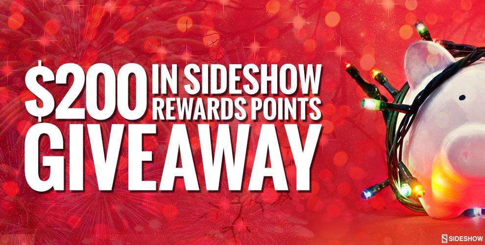 Sideshow Reward Points Giveaway