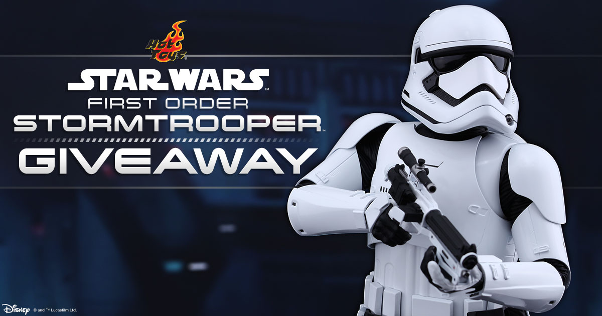 YouTube First Order Stormtrooper Giveaway