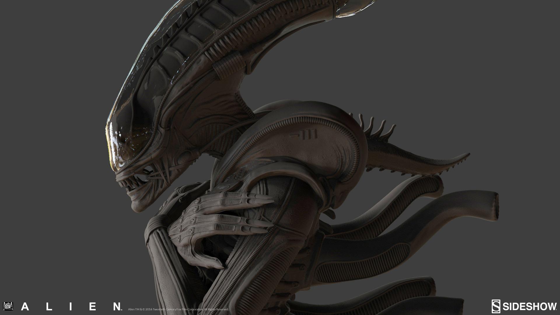Alien: Internecivus raptus Statue Digital Sculpt Matthew Black