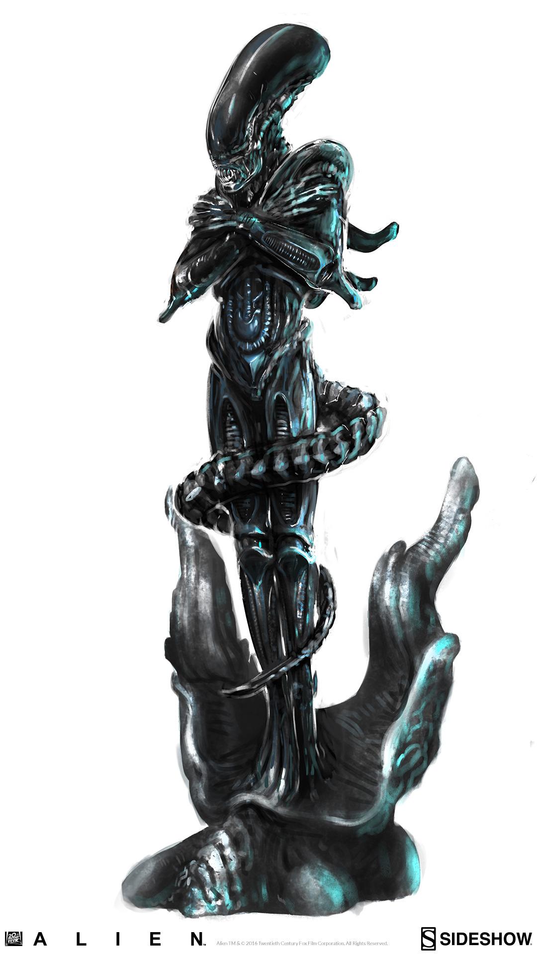 Alien: Internecivus raptus Statue Concept Art Zac Roane