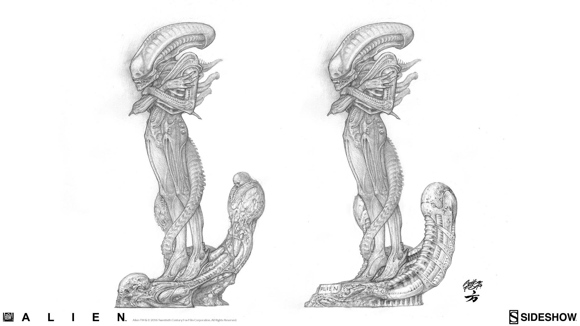 Alien: Internecivus raptus Statue Concept Art Amilcar Fong