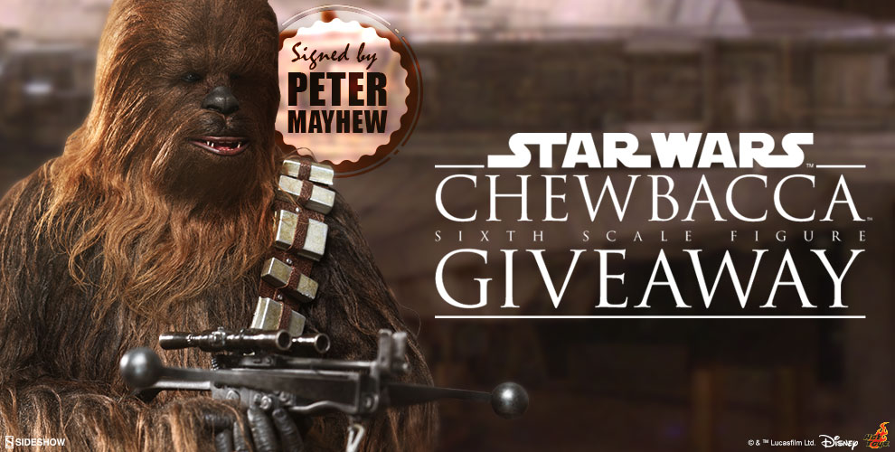 Chewbacca Sixth Scale Figure signed by Peter Mayhew Giveaway