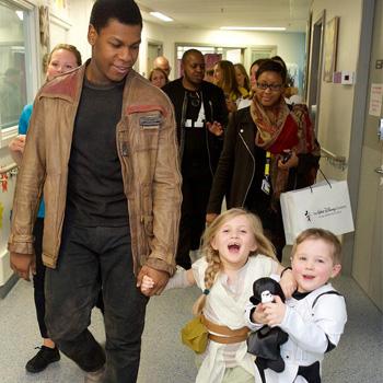 John Boyega Visits the Royal London Hospital as Finn and It's Wonderful