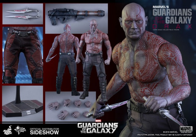 Sideshow and Hot Toys present the Sixth Scale Drax The Destroyer Figure