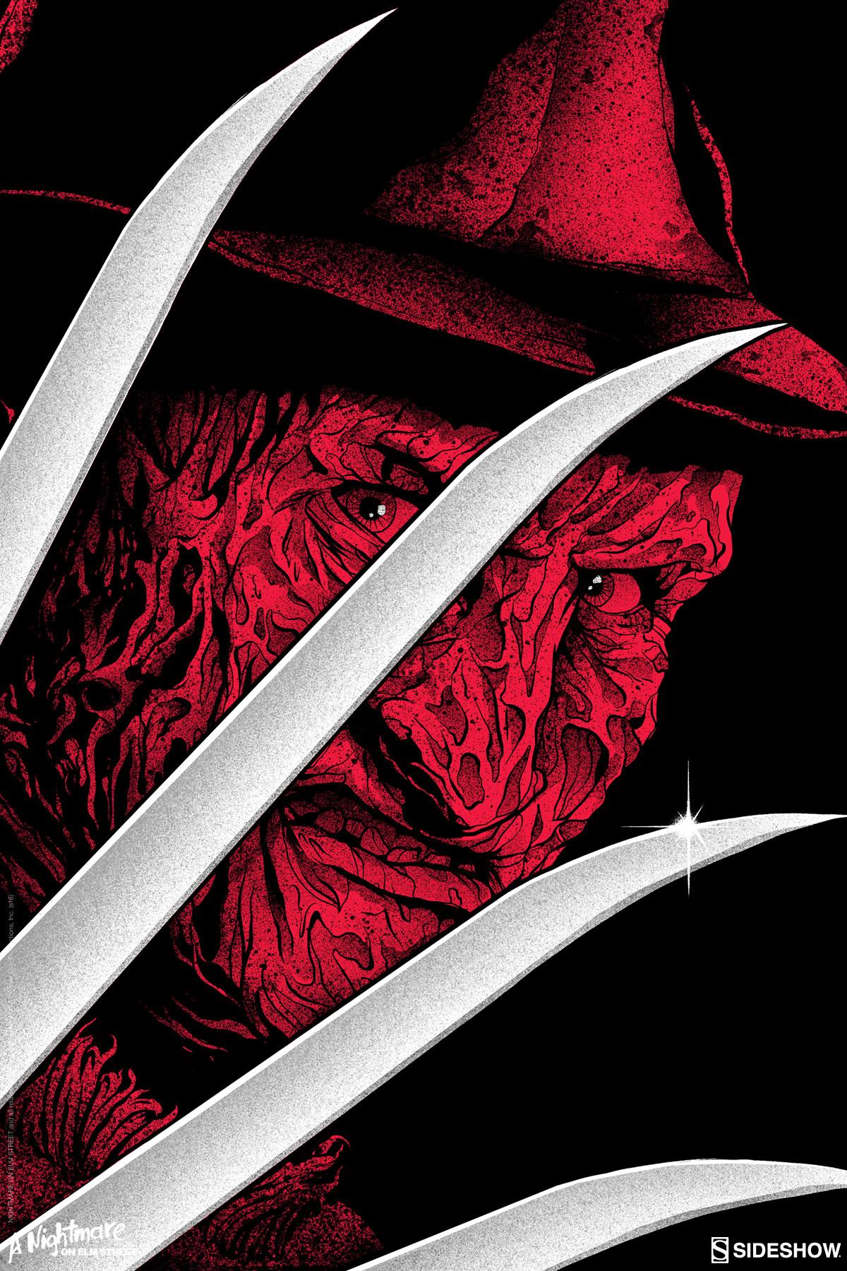 Freddy Krueger Screen-Print by Matt Ryan Tobin