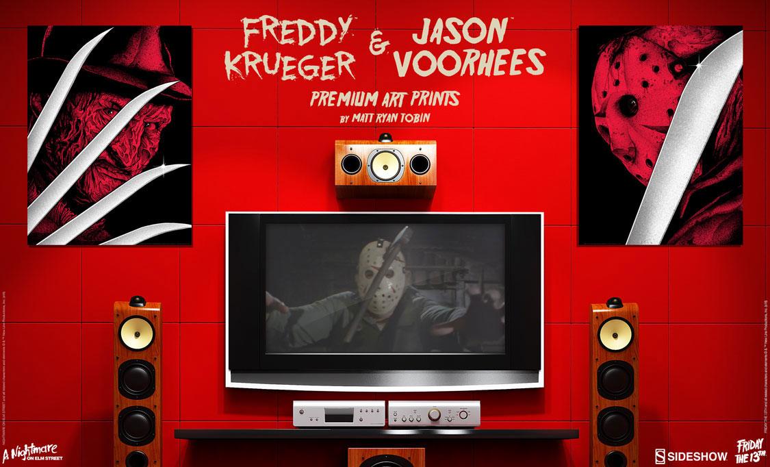 Jason Voorhees and Freddy Krueger Screen Prints by Matt Ryan Tobin