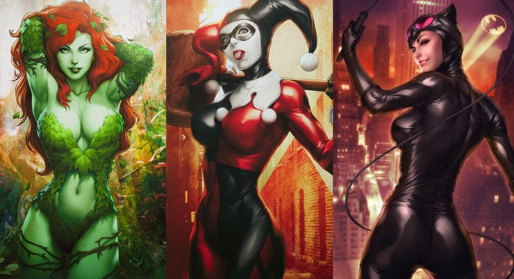 Limited Edition Comic Con Exclusive Gotham Siren Art Prints by Stanley 'Artgerm' Lau